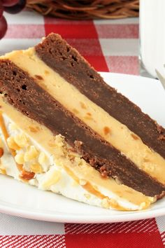 Recipe including course(s): Dessert; and ingredients: brownie mix, cream cheese, crunchy peanut butter, powdered sugar, sweetened condensed milk, whipping cream