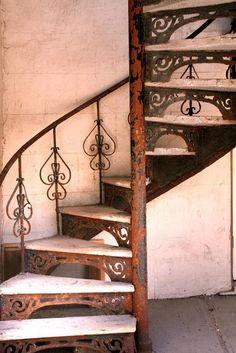 Rusty wrought iron