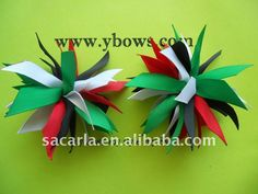 spiky colorful ribbon hair bow