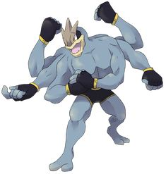 Type: Fighting Ability: No Guard Couldn't not do this one, my partners favourite pokemon of all time is Machamp. Mega Evolution Pokemon, Mega Pokemon, Pokemon Funny, Pokemon Fan Art, Pokemon Fusion, Cool Pokemon, Pokemon Images, Pokemon Pictures, Digimon