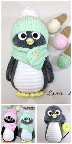 Amigurumi Crochet Penguin Pattern - Free Amigurumi Patterns - Quick, Easy, Cheap and Free DIY Crafts Crochet Amigurumi Free Patterns, Christmas Crochet Patterns, Crochet Animal Patterns, Crochet Blanket Patterns, Crochet Dolls, Crochet Stitches, Crochet Turtle Pattern Free, Crochet Penguin, Crochet Mignon