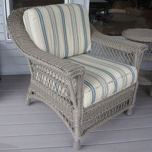 Bar Harbor Outdoor Wicker Arm Chair