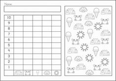 Spring Kindergarten Math and Literacy Worksheets & Activities Distance Learning Graphing Worksheets, Free Kindergarten Worksheets, Worksheets For Kids, Kindergarten Math, Math Literacy, Math Activities, Repeated Addition Worksheets, Math Centers, Classroom