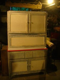 Hoosier Seller's Baking Cabinet From 1938 (dated on cabinet) Fully ...