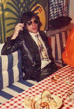 Mick Jagger con aspecto de 'desorientado', en 1973