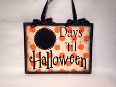 Halloween Countdown Sign by BlocksPaperPaint on Etsy