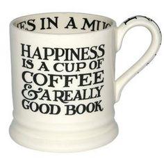 Emma Bridgewater Pottery Black Toast Pint Mug Happiness Coffee Coffee And Books, I Love Coffee, My Coffee, Coffee Cups, Coffee Break, Coffee Reading, Morning Coffee, Lazy Morning, Coffee Talk