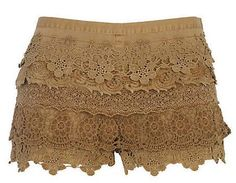 river island lace shorts