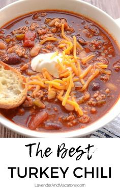 Hands down, the BEST Turkey Chili is right here. Easy to make, bursting with flavor and so comforting and delicious. No wonder it won a cook-off. Try this recipe for a weekend family meal. Best Chili Recipe Ever, Award Winning Chili, Longevity Diet, Best Turkey, Turkey Chili, Cook Off, Chili Recipes, Clean Recipes, Family Meals
