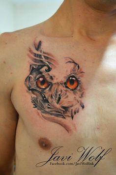 Owl tattoo Tattooed by Javi Wolf