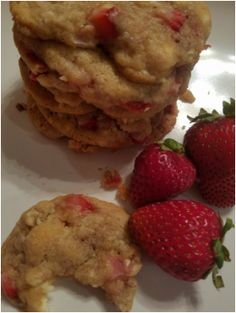 Amazing, simple.  Melt in your mouth Strawberry Cream Cheese Cookies!