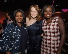 Oscar® nominees Octavia Spencer, Emma Stone and Viola Davis at the Oscar Nominees Luncheon. #Oscars #4ChionStyle #Oscars89 #Oscars2017 #AcademyAwards