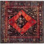 Vintage Hamadan Orange/Multi 6 ft. 7 in. x 6 ft. 7 in. Square Area Rug #AreaRugs