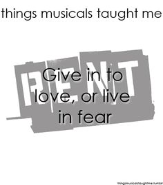 Things Musicals Taught Me, Submitted by singingthroughthestorm