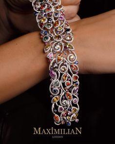 #MultiColoured #Diamond #Bracelet #Jewellery