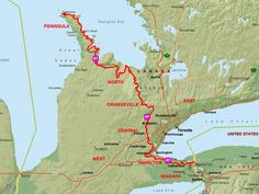Pick a Hike Location Map, Peterborough, Southampton, Hiking Trails, Ontario, Maps, Things To Do, Southern, Join