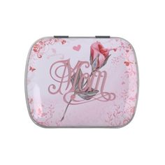 Mom Script and Rose Jelly Belly Tins