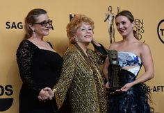 Still a glamour girl! Debbie Reynolds at the 21st annual Screen Actors Guild Awards in Los Angeles