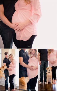 Indoor Maternity Photos with Dog   twelve21photo.com