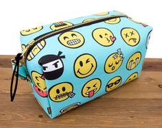 Emoji Bag - Emoji Gift - Gift for Teen Girl - Funny Makeup Bag - Large Makeup Bag - Cosmetic Bag - Unique Gifts for Friends - Makeup Storage
