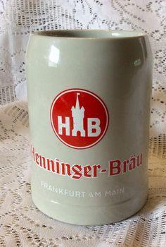 A personal favorite from my Etsy shop https://www.etsy.com/listing/237770594/vintage-henninger-brau-frankfort-am-main