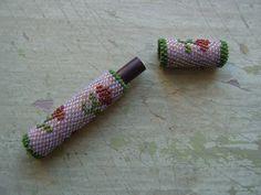 A Rare Antique Beadwork/Beaded Needle Case/Needle Holder - 1800's - Victorian…