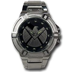 Marvel SHIELD Silver Watch with Metal Band Marvel http://smile.amazon.com