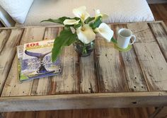 Shabby Chic Pallet Bench Beach Coffee Table by ASOULFULPURPOSE