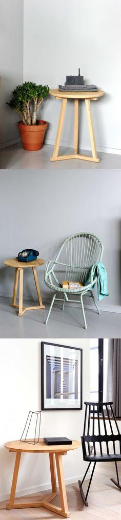 Heidi Earnshaw Oak Tripod Table
