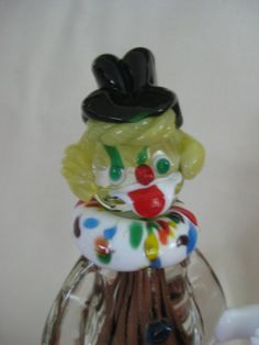 Vintage Murano Glass Clown Holding Marble by VintageByThePound, $85.00