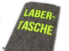 Filzhülle für iPhone 5 - Labertasche - #neongelb