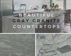 Take It for Granite: Beautiful Gray Granite Countertops Painted Granite Countertops, Sealing Granite, Blue Granite, Granite Kitchen, Kitchen Countertops, Kitchen Cabinets, Ornamental White Granite, How To Clean Granite, Leather Granite