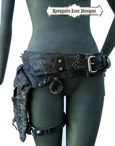 Renegade Icon Designs: Mad Max, Apocalyptic, Dystopian,  Raw, Primitive, Distressed, Hip belt,  Hib bag, Holster bag,Holster Belt