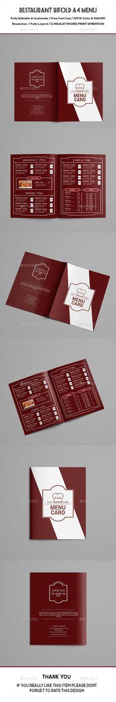 Elegant Restaurant Menu \ Business Card Print templates, Menu - dessert menu template