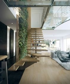 escalier design bois