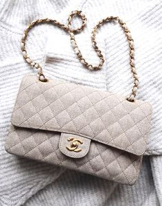 Grey cotton Chanel Classic Flap
