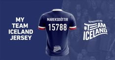 My Icelandic name is Magdalena Mareksson. I joined #TeamIceland and I got this football jersey with my Icelandic name on it and the chance to win a trip to Iceland.