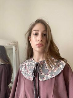 Real Model, Obi Belt, Detachable Collar, Collars For Women, Embroidery Ideas, Round Collar, Peter Pan, Madness, Vintage Outfits