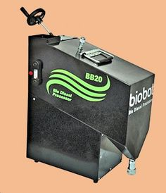 #BioBot 20 countertop diesel processor converts waste cooking oil into #biodiesel