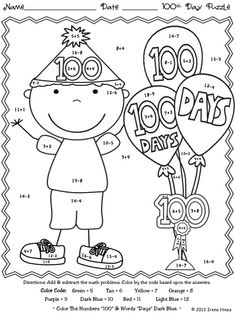 math worksheet : 1000 images about 100th day on pinterest  100th day 100th day  : 100 Day Math Worksheets