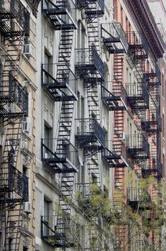 Fire escapes in Harlem Manhattan by @wanderingnewyork | newyork newyorkcity newyorkcityfeelings nyc brooklyn queens the bronx staten island manhattan @lingkingman @ellistuesday @BastienGchr @Parccy