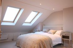 Loft conversion bedroom in South London