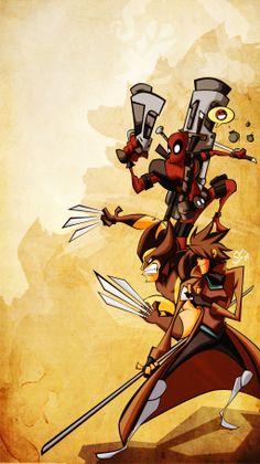 Dead Claw Cards by ~Tigerhawk01 Deadpool, Wolverine, Gambit
