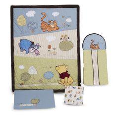 "Disney Friendship Pooh 4 Piece Crib Set - Kids Line - Babies ""R"" Us- our fave so far"