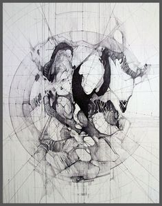Art & Design by Megan McGlynn. Drawings and sculptures based on memories, architectural drawings, mathematical grids, and geometric assemblages. Mathematical Drawing, Industrial Design Sketch, Futuristic Art, Map Art, Art Sketchbook, Art Techniques, Painting Inspiration, Graphic Art, Modern Art