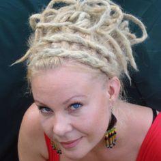Blonde Dreads - Locs unique updo