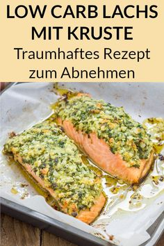 Low Carb Salmon with Parmesan Herb Crust - Fantastic Rec Low Carb Lachs mit Parmesan Kräuter Kruste – Traumhaftes Rezept That salmon is and is quickly prepared in the oven. Here you will find the instructions for the simple low carb dinner weight. Salmon Recipes, Chicken Recipes, Asian Recipes, Healthy Dinner Recipes, Vegetarian Recipes, Law Carb, Slimming Recipes, Le Diner, Evening Meals
