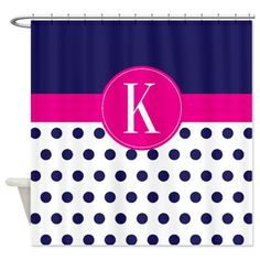 Custom Polka Dot Shower CurtainPersonalized by GatheredNestDesigns, $78.00