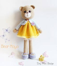 Amigurumi Şeker Kız Yapılışı-Amigurumi Free Pattern Candy Doll - Tiny Mini Design