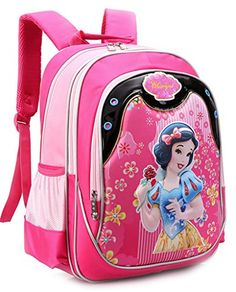 The 3D Snow White Double Shoulders Backpack for Girls -- Want to know more, click on the image.